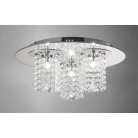 Ceiling light Pegasus 3 Lights polished chrome / Mirror / crystal