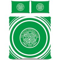 Celtic FC Pulse Duvet Cover Set (Double) (Green)