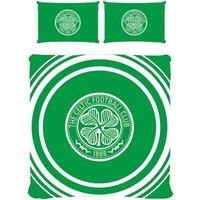 Pulse Duvet Cover Set (Double) (Green/White) - Celtic Fc