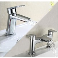 Centa Basin Mixer and Bath Filler Tap - NESHOME