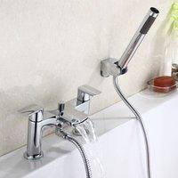 Neshome - Centa Waterfall Bath Shower Mixer Tap with Shower Kit
