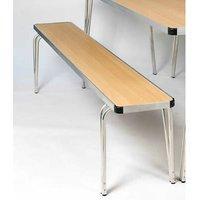 Ceri Oak 4Ft Alumunium Frame Portable Bench - Various Colours Teak Effect Large Bench