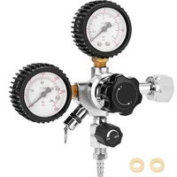 CGA320 Beer Keg CO2 Regulator Safety Pressure Relief Valve 0-3000 PSI Tanks Pressure Adjustable,model:Multicolor