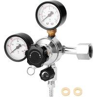 CGA320 Beer Keg CO2 Regulator Safety Pressure Relief Valve Built-in Pressure Stabilizer 0-3000 PSI Tanks Pressure Adjustable,model:Multicolor