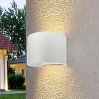 CGC 6W Curved White LED Wall Light Lamp Up and Down with Adjustable Beam Angles 4000k Natural White Light IP65 Indoor Outdoor Garden Patio Door Porch