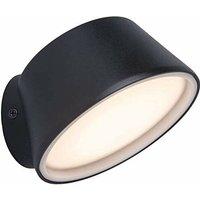 Cgc Lighting - CGC Intelligent Smart Home Round Anthracite Dark Grey 12W LED Wall Light IP54 Outdoor Garden Patio Porch with TUYA Colour Temperature