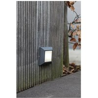 CGC LED Slim Square Opal Diffuser LED Wall Light 4000k Natural White 4W 200lm Dark Grey Anthracite Finish IP54 Garden Porch Patio Outdoor Wall Light