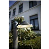 CGC Round Cone LED Post Bollard Light 12W 780lm 4000k Natural White Dark Grey Anthracite Finish IP54 Garden Porch Patio Outdoor Light Lamp - CGC