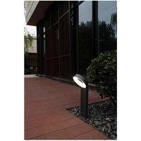 CGC Round Halo LED Post Bollard Light 14W 800lm 3000k Warm White Dark Grey Anthracite Finish IP54 Garden Porch Patio Outdoor Light Lamp - CGC LIGHTING