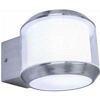 Cgc Lighting - CGC Round Stainless Steel E27 Standard Screw Wall Light Up Down and 360 Degree Illumination IP54 Garden Porch Patio Outdoor Wall Light