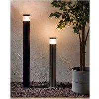 CGC Silver LED Post Bollard Light Adjustable Height Garden Patio Drive Path Walkway Slim Hotel - CGC LIGHTING