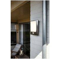 CGC Slim Stainless Steel Modern LED Wall Light Security PIR Motion Sensor 13W 800lm 3000k Warm White IP44 Outdoor Garden Patio Porch Drive Door Wall