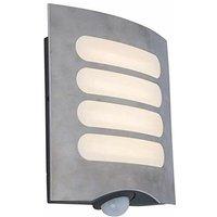 CGC Stainless Steel Modern Grill 14W LED Security PIR Motion Sensor 700lm Wall Light IP44 Outdoor Garden Patio Porch Light Lamp - CGC LIGHTING