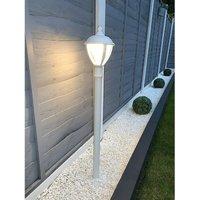 Cgc Lighting - CGC White LED Post Lantern Outdoor Light 3000K Warm White IP44 Ideal for Garden Patio Driveway Pathway Pole Bollard Post