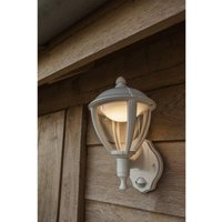 Cgc Lighting - CGC White LED Wall Lantern With PIR Motion Sensor Outdoor Light 3000K Warm White IP44 Ideal for Garden Patio Driveway Pathway Post