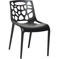 Plastic Dining Chair Black MORGAN - BELIANI
