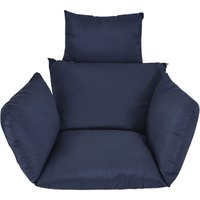 Chair Cushion Chair Cover Hammock Swing Seat Cushion Thick Nest Hanging Chair Back With Blue Pillow - KINGSO
