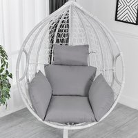 Chair Cushion Chair Cover Hammock Swing Seat Cushion Thick Nest Hanging Chair Back With Gray Pillow - KINGSO