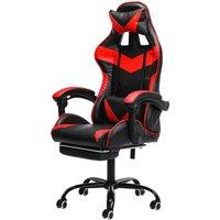 Chair Office Chair Gaming Gamer Swivel Racing Reclining Red Hasaki