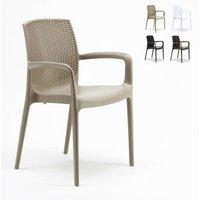 Chaises de Jardin Boheme Bar avec accoudoirs Poly-rotin | Beige - Grand Soleil