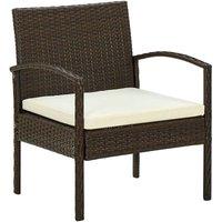 Vidaxl - Chaise de jardin avec coussin Résine tressée Marron