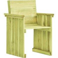 Youthup - Chaise de jardin Bois de pin imprégné