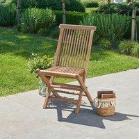 Bois Dessus Bois Dessous - Chaise de jardin pliante en teck huilé