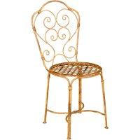 Chaise de salle à manger de jardin d'extérieur en fer forgé avec finition crème antique - BISCOTTINI