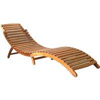 Chaise longue Bois d'acacia solide Marron - ASUPERMALL