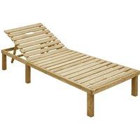 Chaise longue Bois de pin impregne - ASUPERMALL