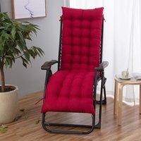 Lbtn - Chaise Longue Cushion Lounge Cushion Recliner Rocking Armchair Sofa Mat (Wine red)