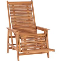 Vidaxl - Chaise longue de jardin avec repose-pied Bois de teck solide