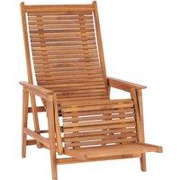 Asupermall - Chaise longue de jardin avec repose-pied Bois de teck solide