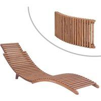 Chaise longue pliable Bois de teck solide - VIDAXL
