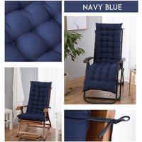 Kingso - Chaise Lounger Cushion Pad Lounge Rocking Recliner Chair Mat 170x52x8cm Navy blue