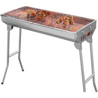 Charcoal Barbecue Garden Outdoor Folding Stainless Steel Table 73 x 33.5 x 70 cm