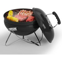 Charcoal BBQ Grill Smoker Portable Meat Cooking Stove Garden Picnic Fire Bowl