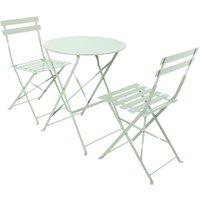 Charles Bentley - Bentley Garden 3 Piece Metal Garden Patio Furniture Bistro Set Table and 2 Chairs - Green