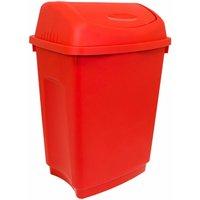 50 Litre Flip Top Rubbish Waste Kitchen Bin - Various Colour