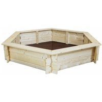 Kids Children Outdoor Hexagonal FSC Wood Sand Pit Box Play - Charles Bentley