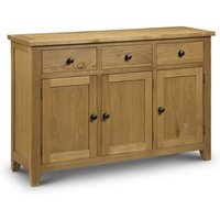 3 Door 3 Drawer Solid Oak Traditional Style Sidebaord - Charlotte