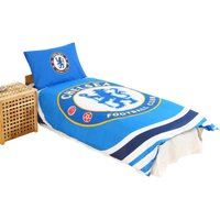 Official Reversible Pulse Duvet Set (Single) (Blue) - Chelsea Fc