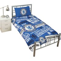 Chelsea FC Patch Duvet Set (Single) (Blue)