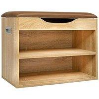 Cherry Tree Furniture 2-Level Shoe Rack Bench Storage 60 x 30 x 45 cm (Oak Colour)