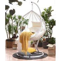 Meriden Furniture - Cherry Tree Furniture Breeze White Rattan Effect Hanging Egg Chair