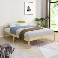 Cherry Tree Furniture Curran FSC-Certified Solid Wood Bed Frame in Natural UK Small Double