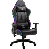 Cherry Tree Furniture VIRIBUS X1 Office Gaming Chair with 12-Colour LED Light Black