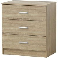 Chest of Drawers 69*40*60cm Wood 3 Drawers Bedside Table Cabinet Nightstand Bedroom
