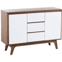 Modern Sideboard Dark Wood Frame White Drawers Cabinets Storage Pittsburgh