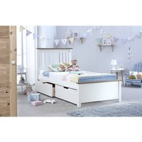 Chester Bed White Single With 2 Storage Drawers